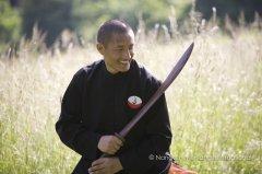 Tulku Lobsang avec l'épée de sagesse (Tog Chod)